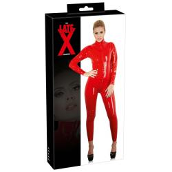 Latex Catsuit red