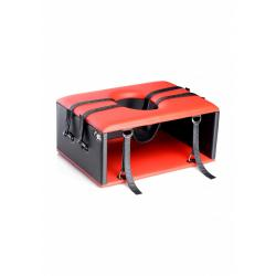 Queening Chair - Black and Red