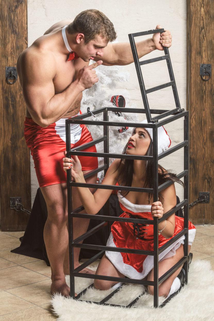 Sexy regalo donna in gabbia
